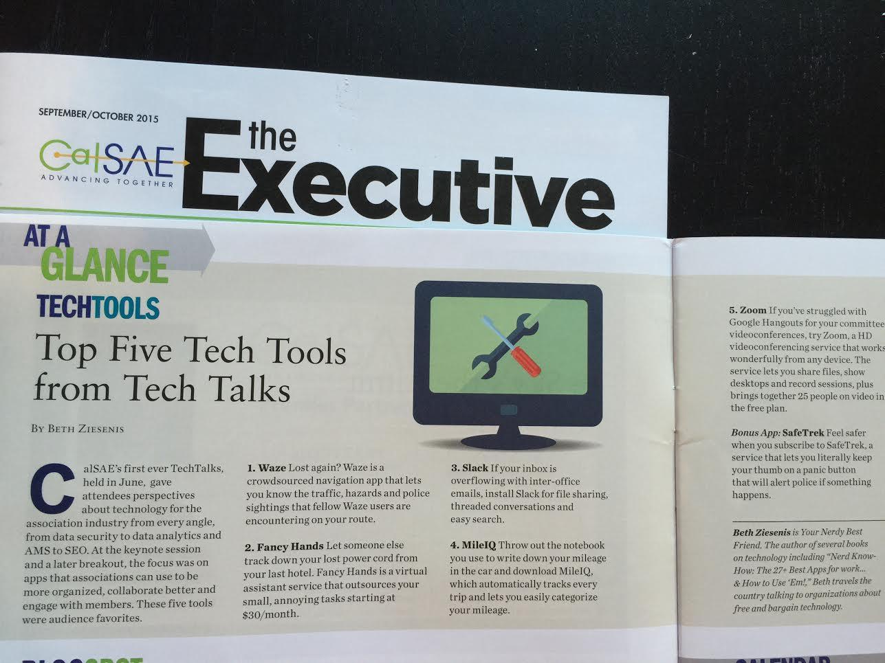 Association Executive Top Five Tech Tips