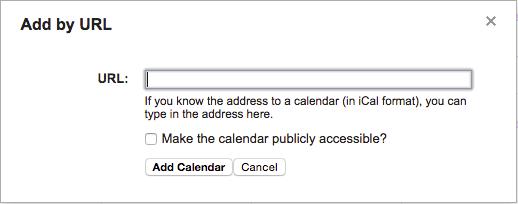 Add Google Calendar by URL