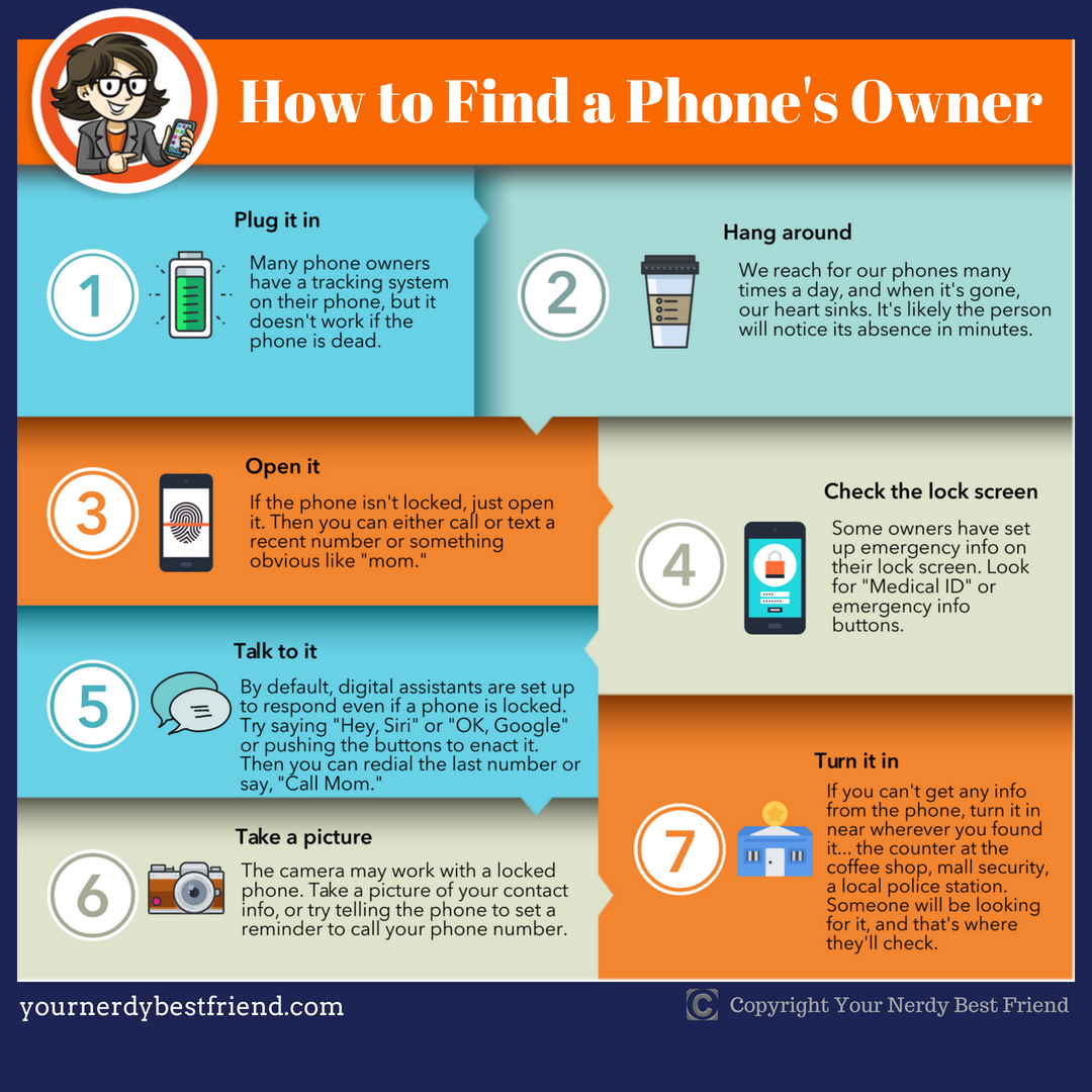 How to Find a Phone's Owner: An Infographic | Your Nerdy